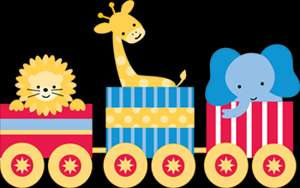 GIRAFFE ELEPHANT MONKEY LION NURSERY BABY WALL BORDER STICKER DECAL