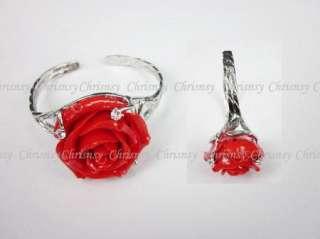 Fashion Jewelry Bracelet Bangle Flower Red Rose c1075
