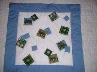 Baby Nursery Crib Bedding Set made w/John Deere beige plaid fabric NEW