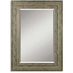 Hallmar Distressed Silver Wood Framed Mirror