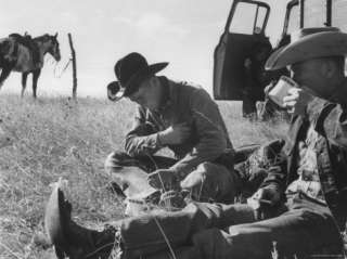 Cowboys on Long Cattle Drive from S. Dakota to Nebraska Premium