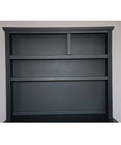 Solid Wood Black Dresser Hutch