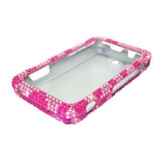 for zte score x500 full cs diamond case hot pink zebra quantity 1