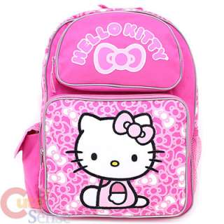 Hello Kitty Large School Backpack & Lunch Bag Set  Pink Bows