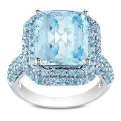 Sterling Silver Sky and Swiss Blue Topaz Ring