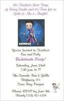 Betty Boop Biker Betty Bridal Shower Invitations Favors