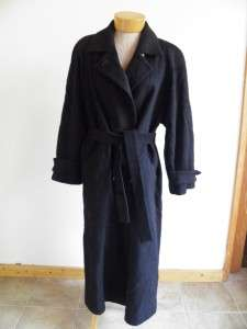Fluerette Black Camel Full Length TRENCH Coat M