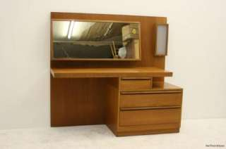 1970s Teak Light Up Dressing Table / Vanity   Very Retro