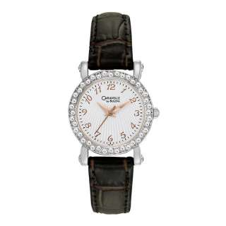 CARAVELLE BULOVA CRYSTAL LADIES WATCH 43L126