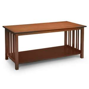 Mission Style Coffee Table, Light Oak Furniture