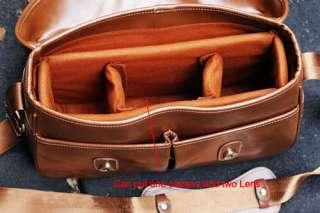 Brown SLR DSLR Camera Bag Case Handbag Shoulder Bag