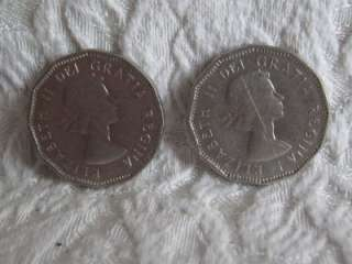 Nice Mixed Lot (4) 1960s Canadian 5 Cents Nickels