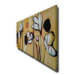 Lotus Flower Gallery wrapped Canvas Art Set  Overstock
