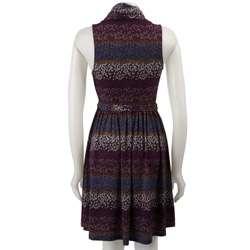 BCBGeneration Womens Belted Cowl neck Dress