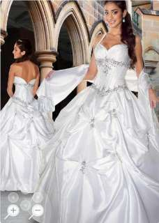New White Hlalter Sweetheart Wedding Dress/Bride Gown Stock Size6/8