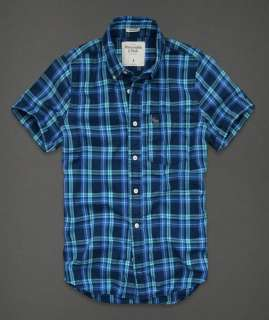 NWT ABERCROMBIE & FITCH MEN PLAID SHIRT BUTTON FRONT SIZE SMALL RETAIL
