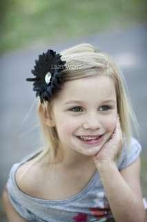 WHOLESALE COST GIRL GERBER 4 DAISY FLOWER HAIR CRYSTAL
