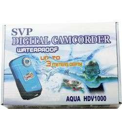 Aqua HDV1000 Blue Waterproof Digital Camcorder with Micro 16GB Card
