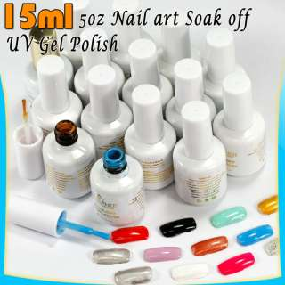 NEW MIX COLORS NAIL ART SOAK OFF UV GEL POLISH 15ML 5OZ