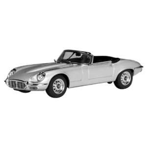 Jaguar E Type Silver Roadster V12 1/43 Diecast Car Model