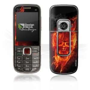 Design Skins for Nokia 6720 Classic   Burning Skull Design