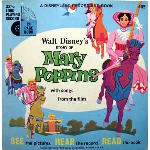of Mary Poppins With Songs From The Film 33 RPM Record Inclu Books