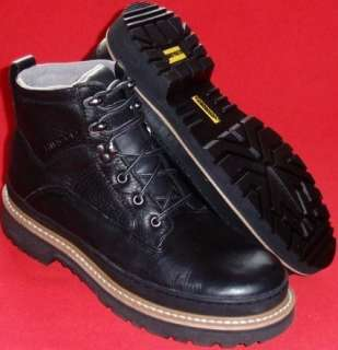 NEW Mens CHINOOK WORKHORSE II Black Leather Work Boots size 9.5