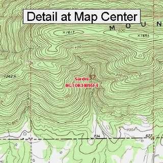 USGS Topographic Quadrangle Map   Sardis, Oklahoma (Folded