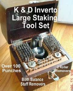 WATCHMAKERS K & D Inverto Large Staking Tool Set