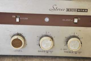 VINTAGE EICO STEREO TUBE AMP AMPLIFIER ST 40 4 PARTS OR REPAIR 12AX7