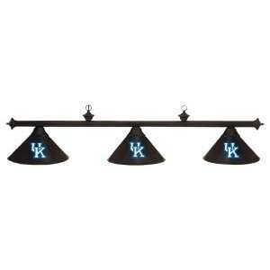 Kentucky Wildcats College Black 3 Shade Pool Table Light, 58 L x 9D