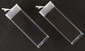inch Clear Flip Top Containers with Caps (10 ea)
