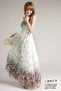 Womens BOHO Exotic Summer White Chiffon long Dress Full Length Fashion