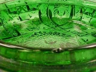 EAPG Antique MEMPHIS GREEN w GOLD GILT BUTTER DISH Northwood DOLLS EYE