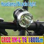 2012 CREE XML T6 LED Cycling Bicycle Bike Light 1800 Lumen Headlamp