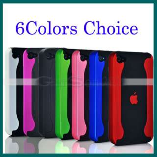 6Colors Choice 2 Piece Matte Chrome Hard Case Cover Fr Apple iPhone 4G