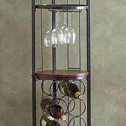 Round Metal Wine Storage Tower  Overstock