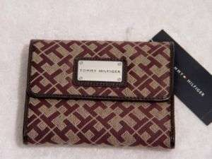 NEW Tommy Hilfiger Logo Brown Womens Wallet Clutch Bag