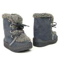 Faux Suede Gray Boots Size 4 12 / Girls & Boys Shoes Laces