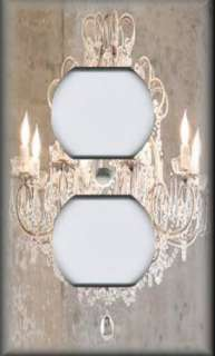 Switch Plate Cover   Shabby Decor   Crystal Chandelier Image