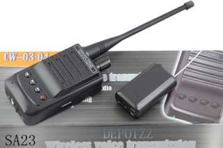 Micro Wireless Audio Transmitter bug+Audio Receiver Recorder