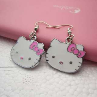 2012 Cute HelloKitty Face Girls Lady Mini Earring Gift for Kid Child