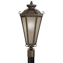 Legacy Bronze 1 light Outdoor Post Lantern