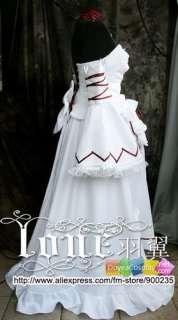 154 Pandora Hearts Alice Cosplay Costume Halloween Christmas White