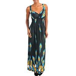 Stanzino Womens Peacock Print Maxi Dress  Overstock