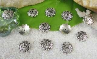 150pcs Tibetan silver heart bead caps FC10359