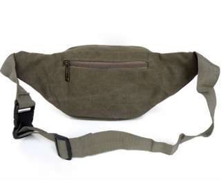 Army Green Canvas Mens Waist Bag Fanny Pack FREE SHIP
