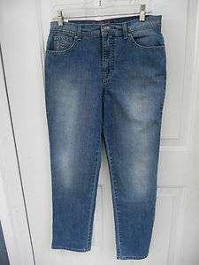 NWT GLORIA VANDERBILT $38 Amanda Bling Fit Stretch Blue Jeans W