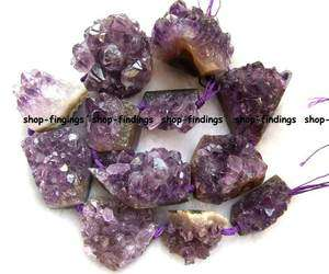 purple natural amethyst freeform gemstone Beads 17.5 high quality