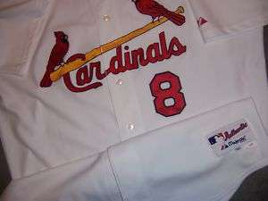 Glaus 08 St Louis Cardinals Authentic Game Used Jersey